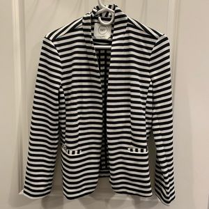 1901 - Blazer - White/Blue Striped - Size 6 - NWOT